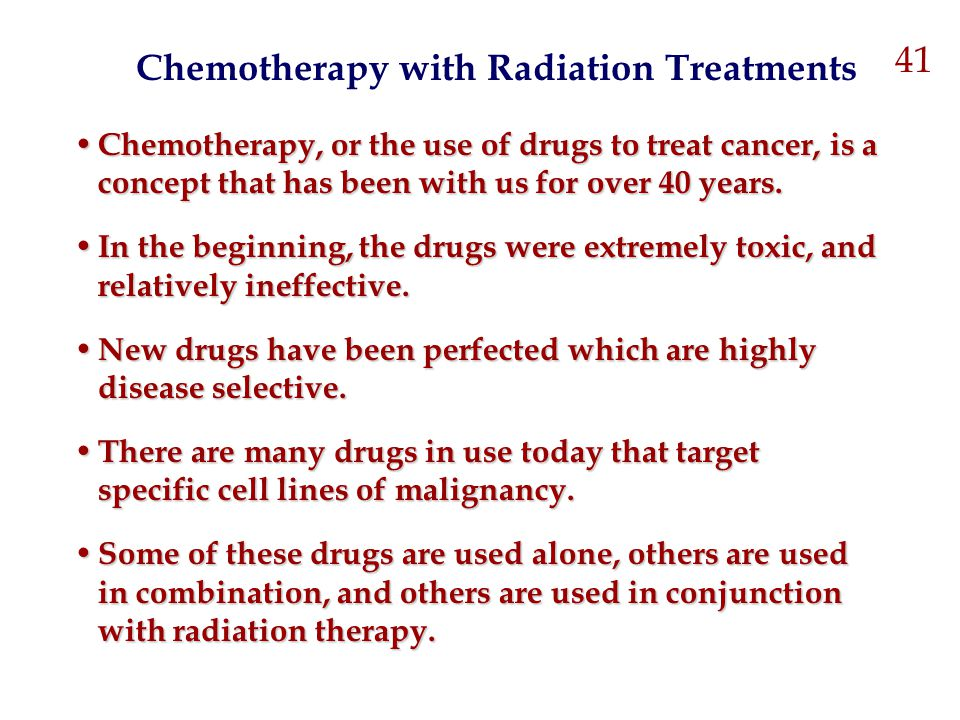 Chemotherapy with Radiation Treatments