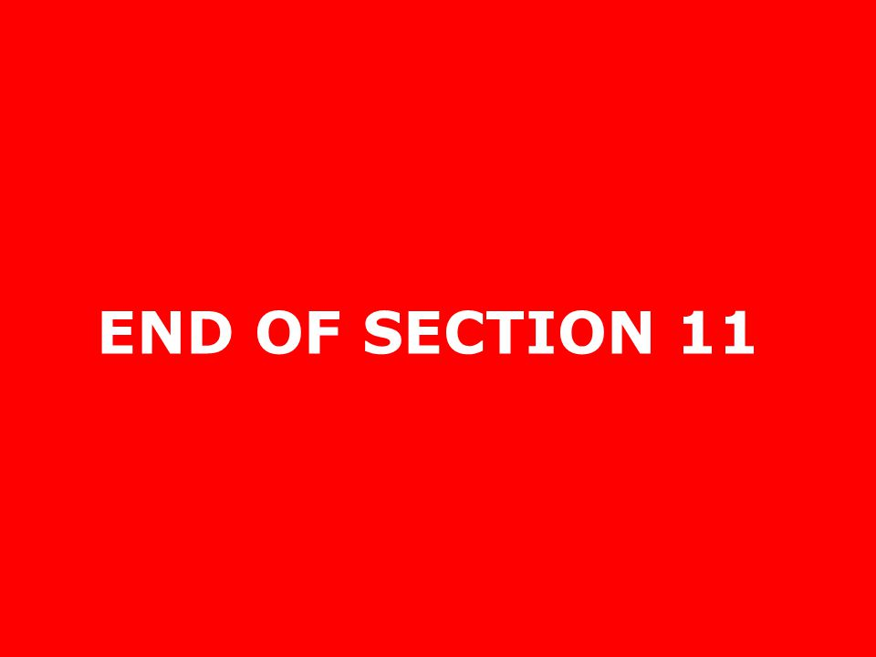 END OF SECTION 11