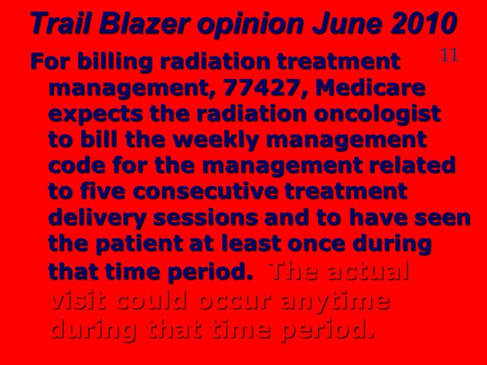 Trail Blazer opinion June 2010