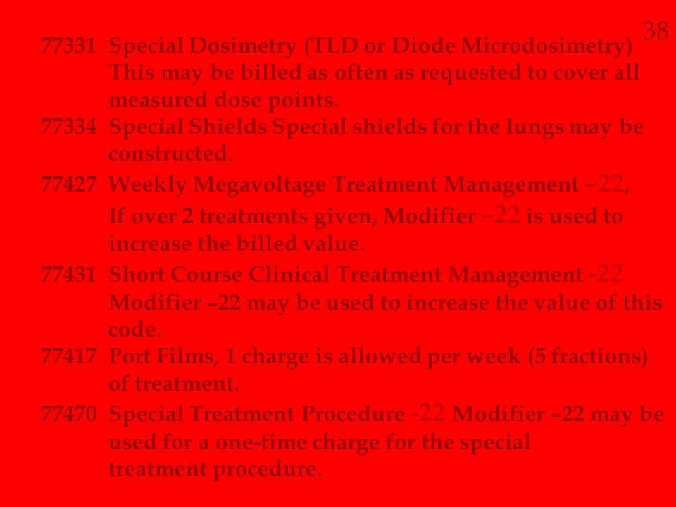 38 77331 Special Dosimetry (TLD or Diode Microdosimetry)
