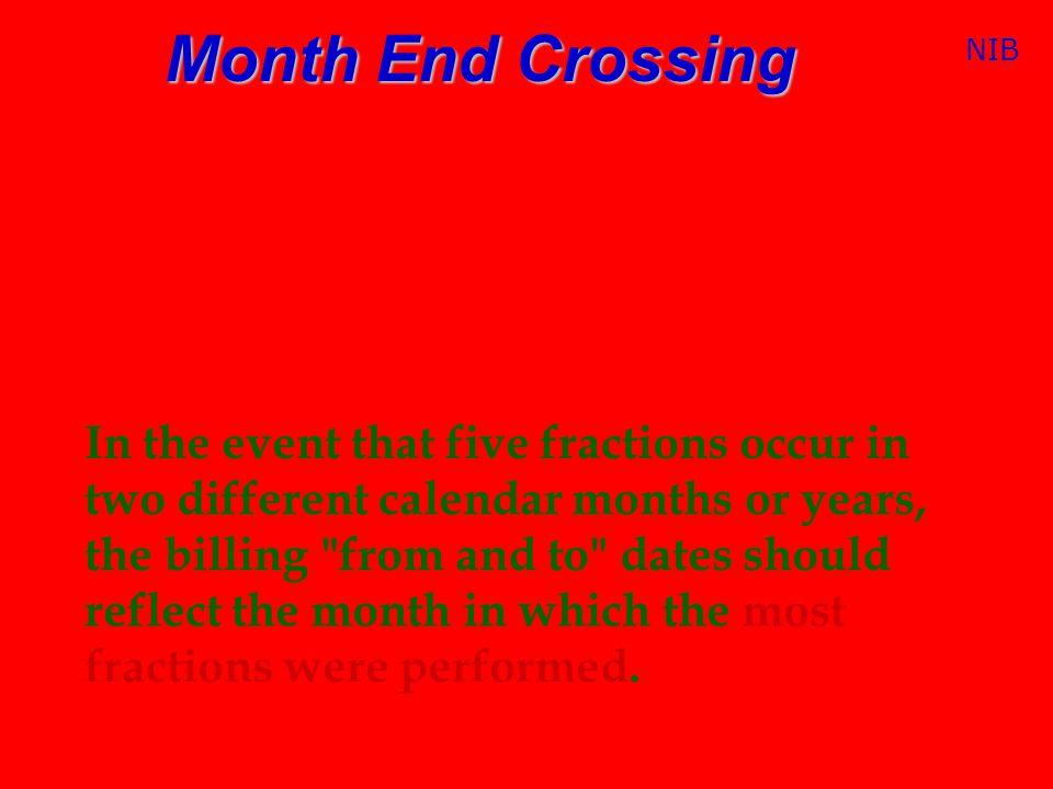 Month End Crossing NIB.