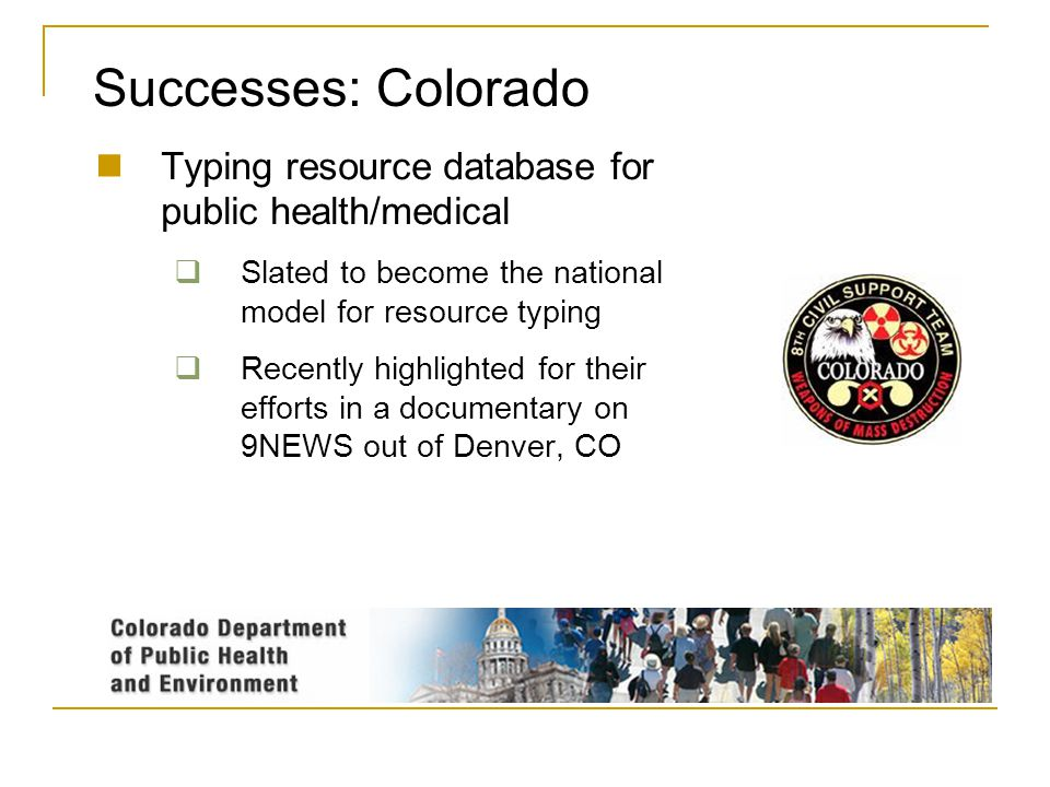 Successes: Colorado Typing resource database for public health/medical