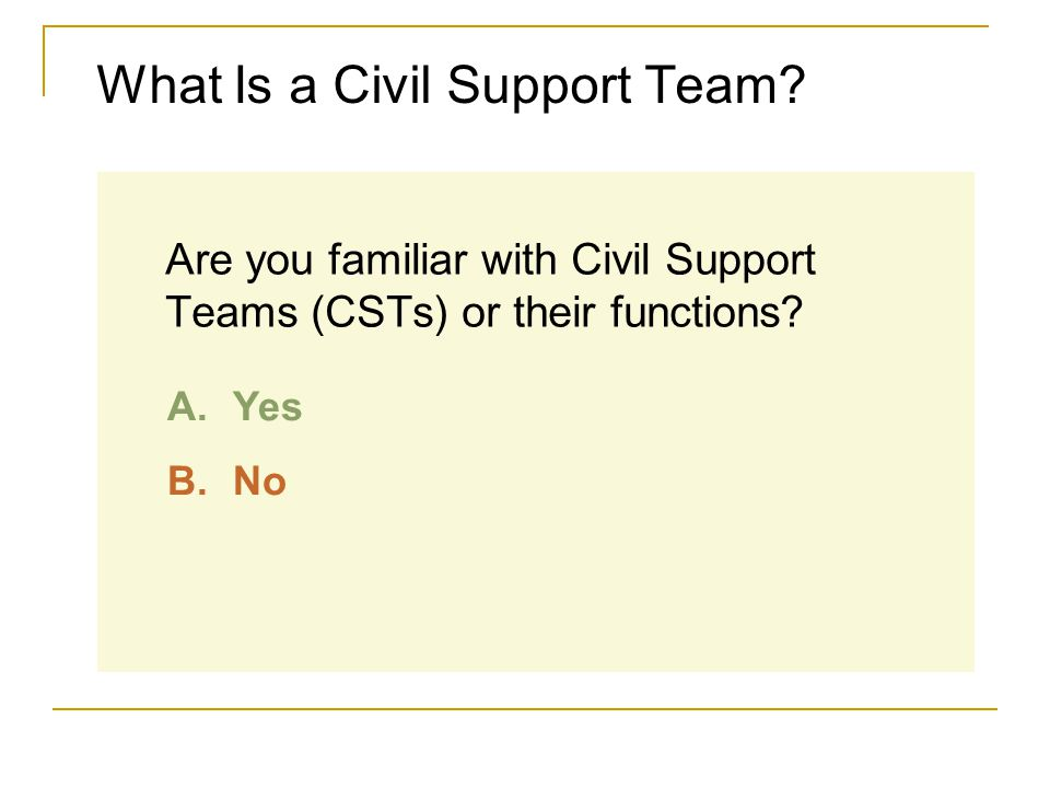 What Is a Civil Support Team