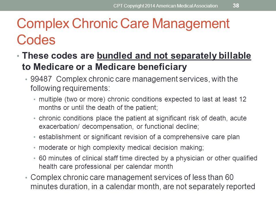 Complex Chronic Care Management Codes