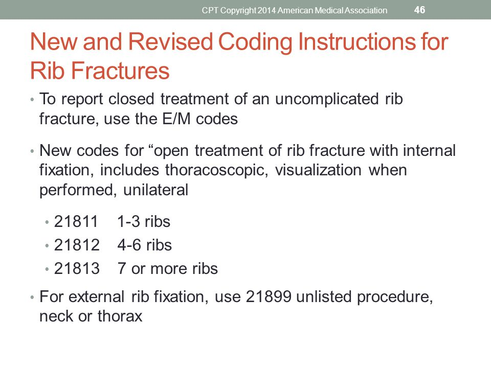 New and Revised Coding Instructions for Rib Fractures