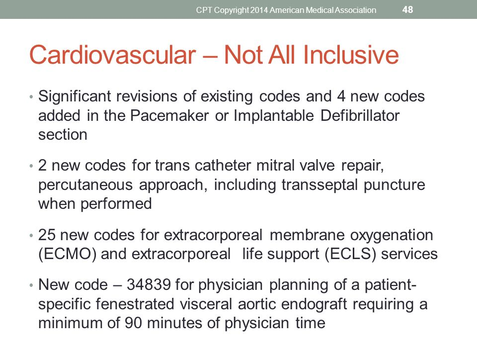 Cardiovascular – Not All Inclusive