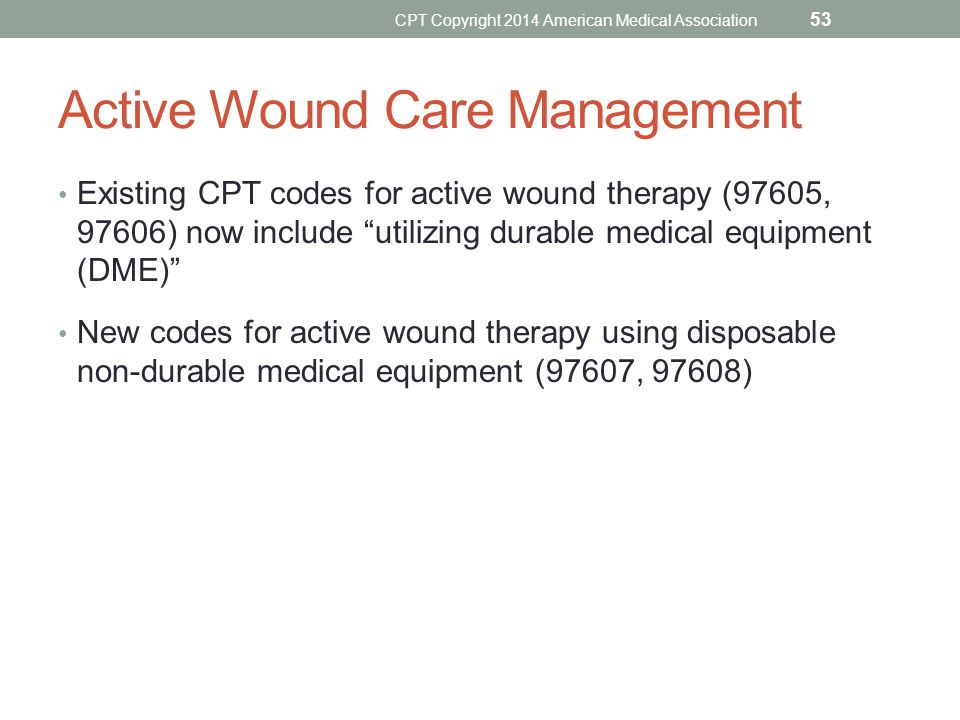 Active Wound Care Management