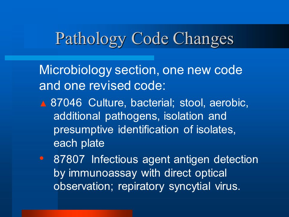 Pathology Code Changes
