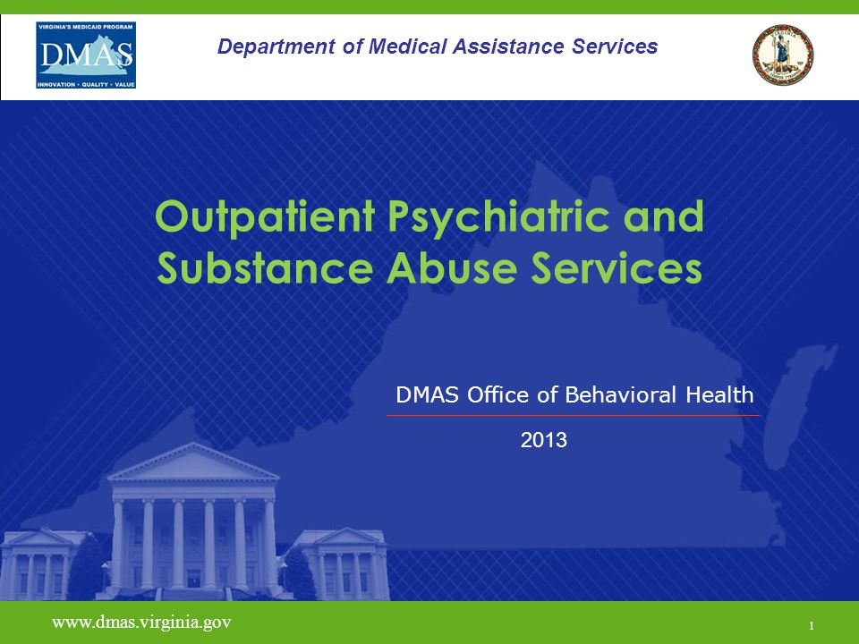 Outpatient Psychiatric and Substance Abuse Services
