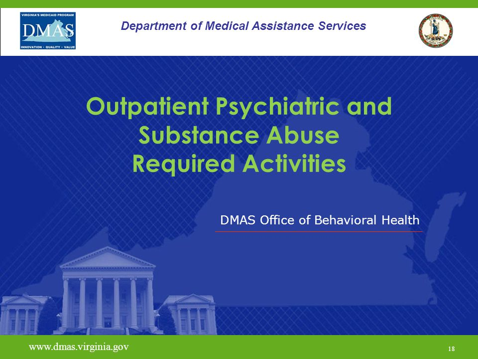 Outpatient Psychiatric and Substance Abuse Required Activities