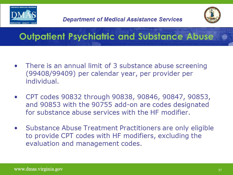 Outpatient Psychiatric and Substance Abuse