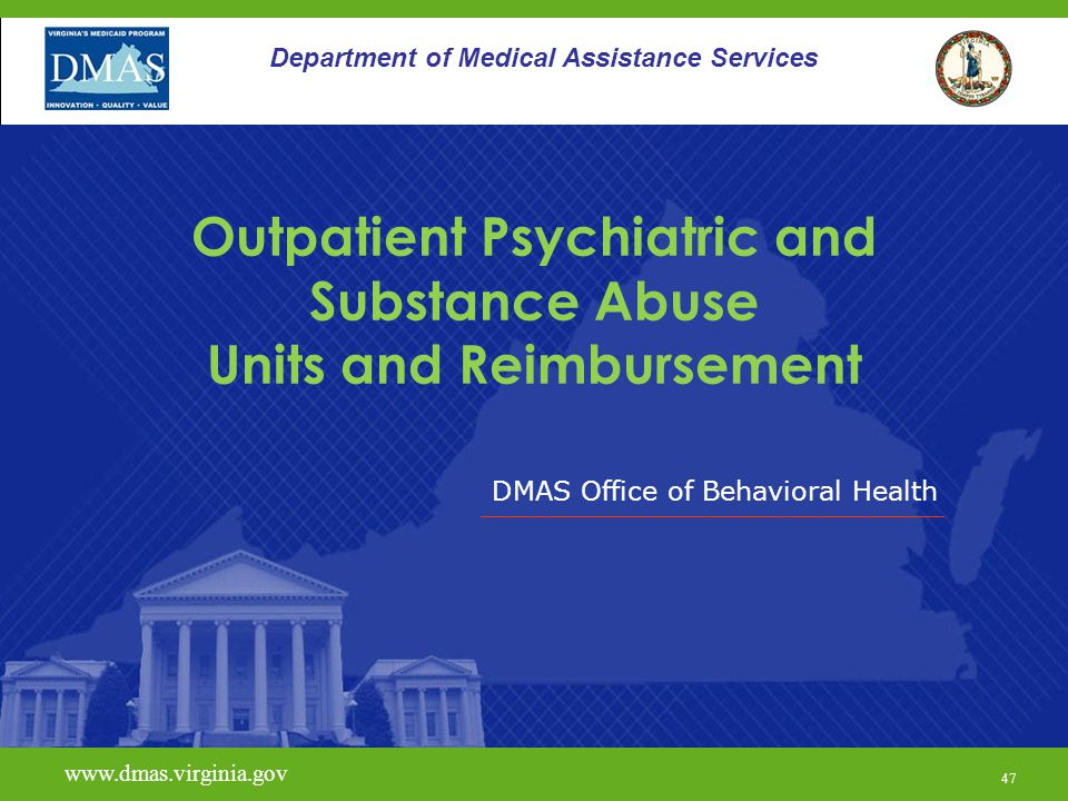 Outpatient Psychiatric and Substance Abuse Units and Reimbursement