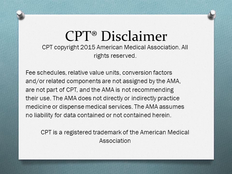 CPT® Disclaimer
