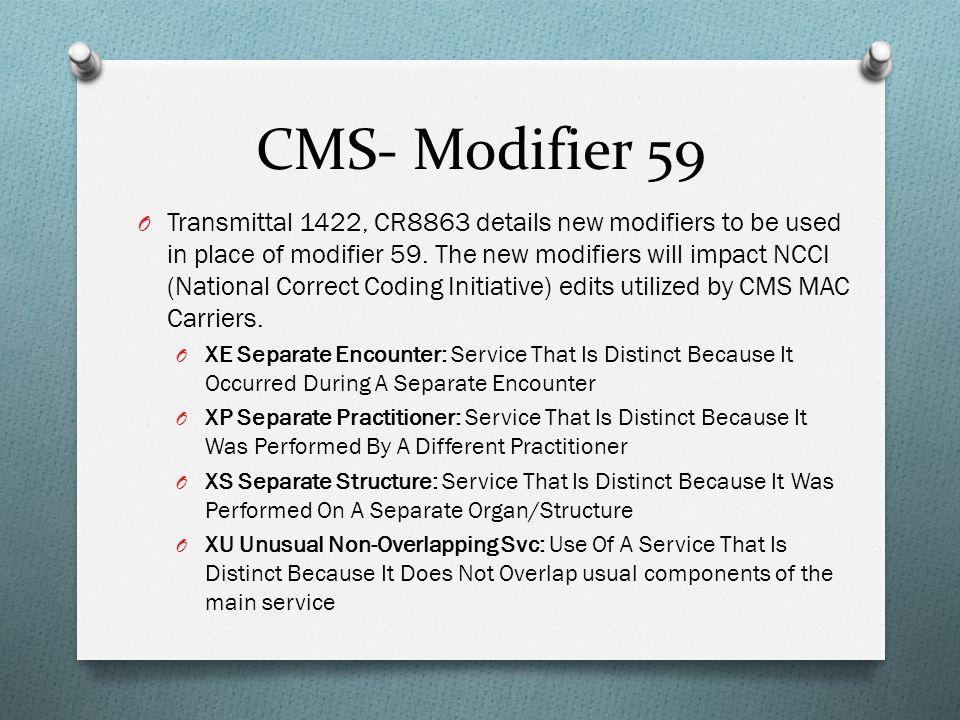 CMS- Modifier 59