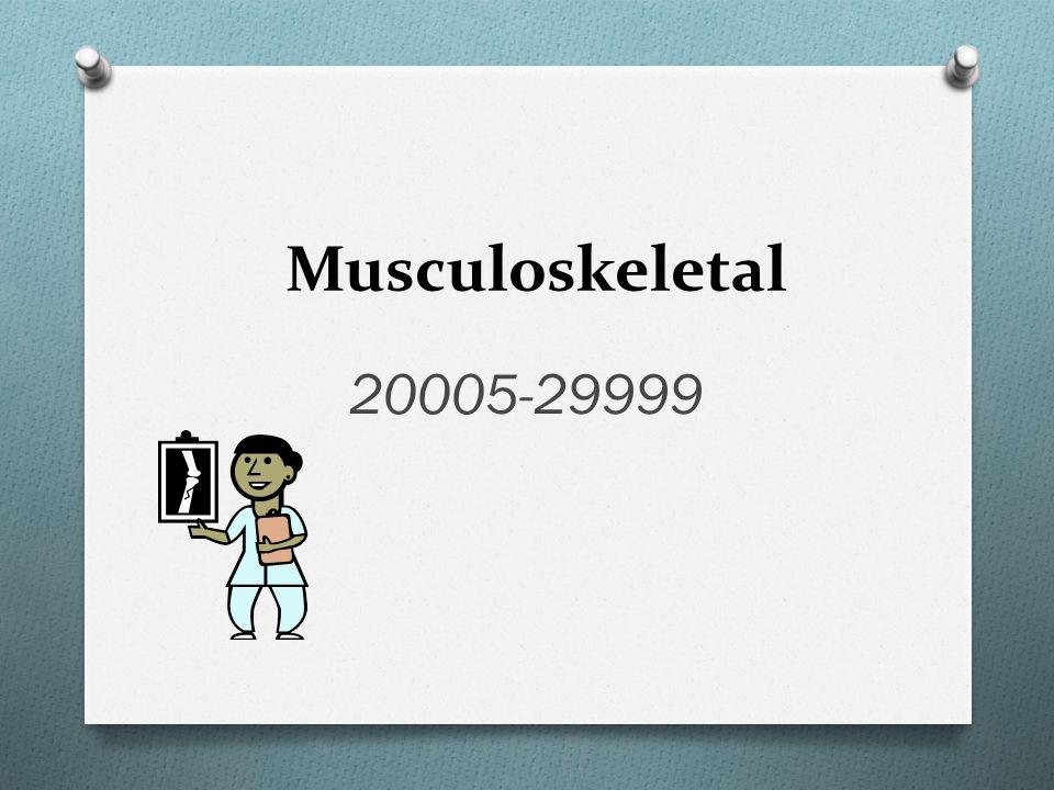 Musculoskeletal 20005-29999