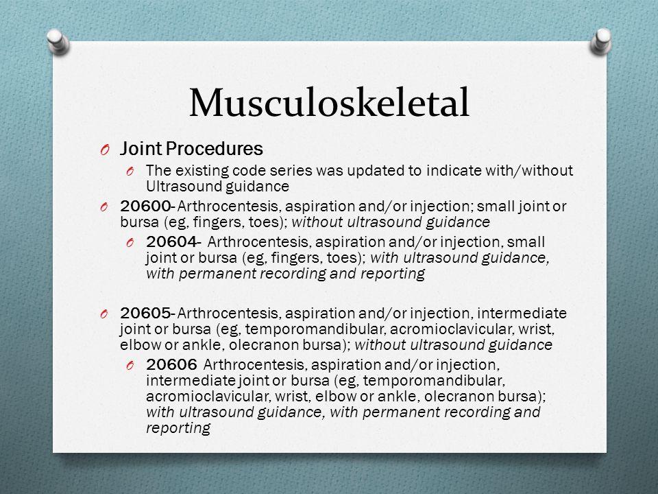 Musculoskeletal Joint Procedures