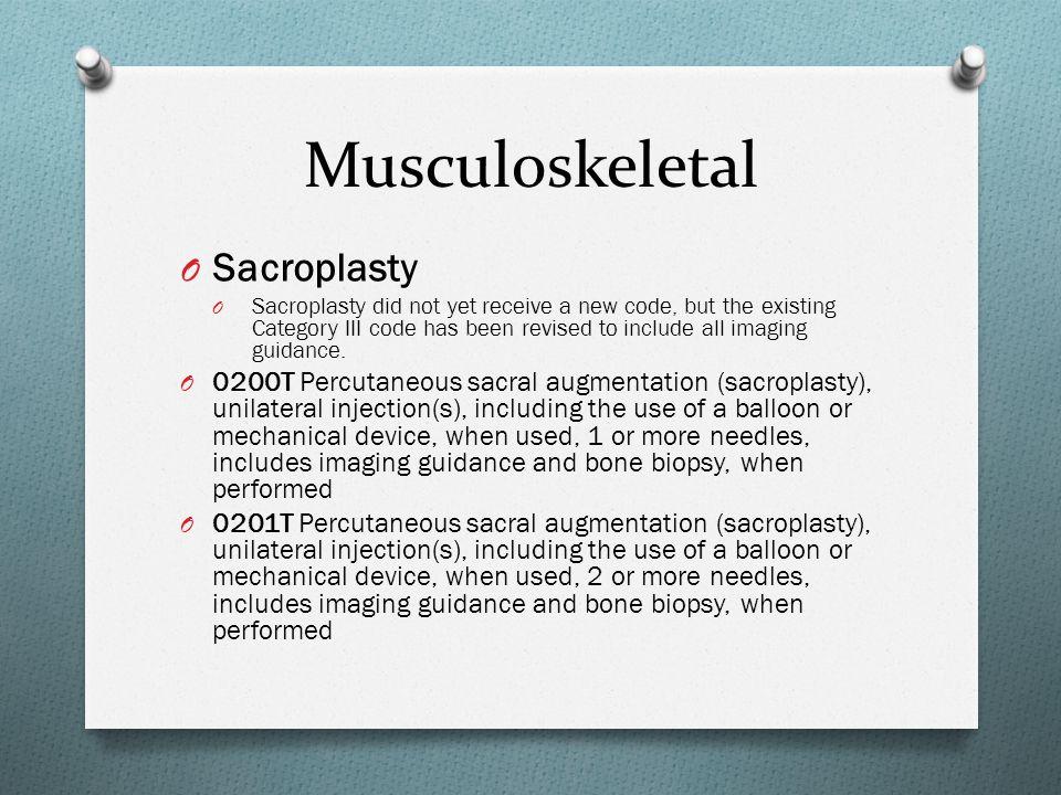 Musculoskeletal Sacroplasty