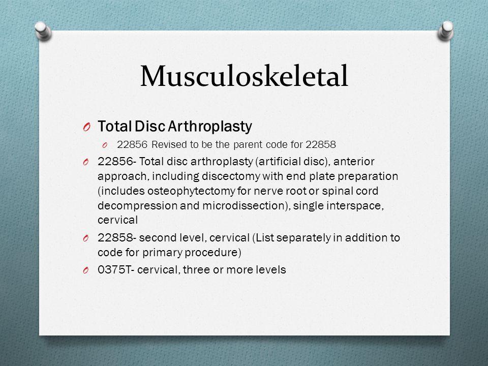 Musculoskeletal Total Disc Arthroplasty