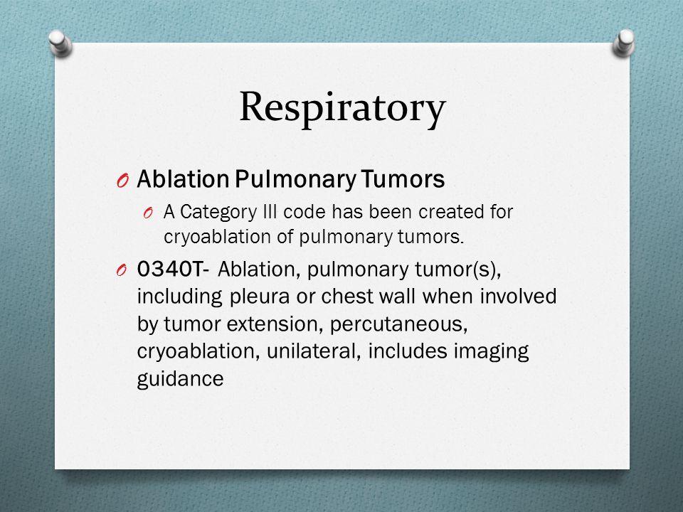Respiratory Ablation Pulmonary Tumors