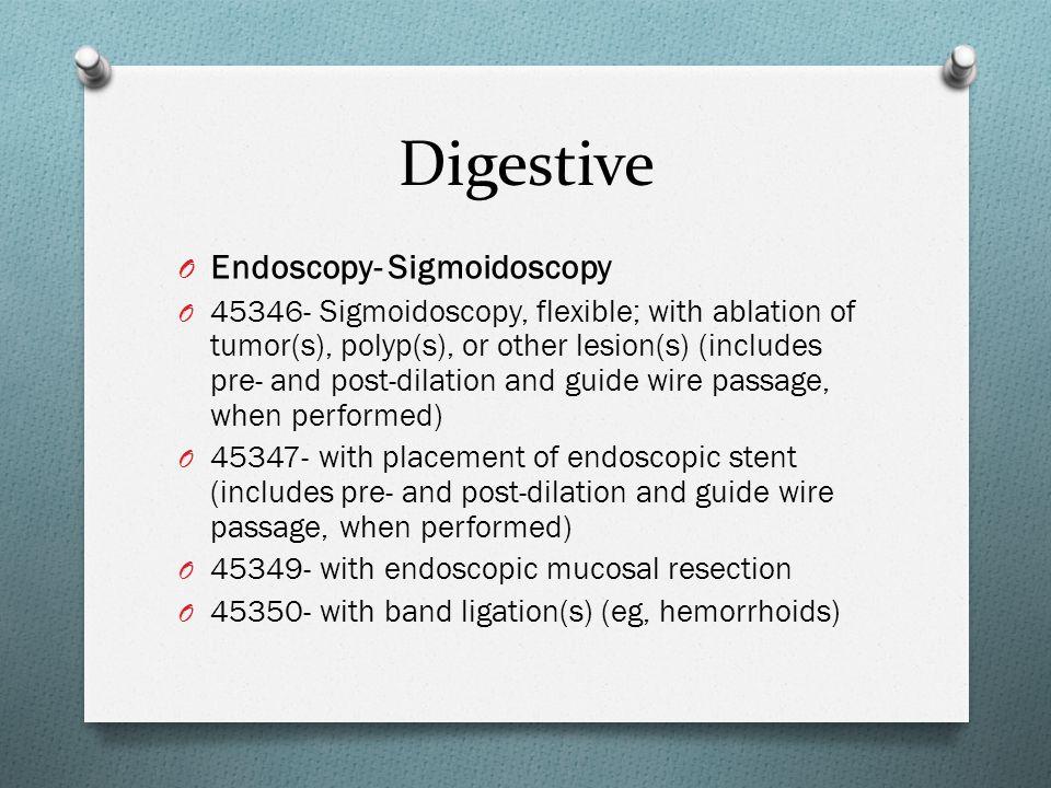 Digestive Endoscopy- Sigmoidoscopy