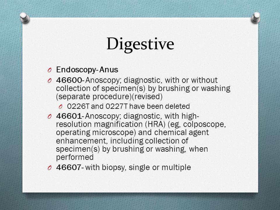 Digestive Endoscopy- Anus
