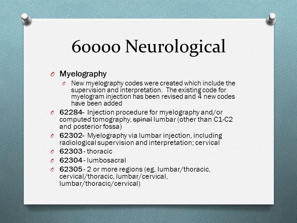 60000 Neurological Myelography