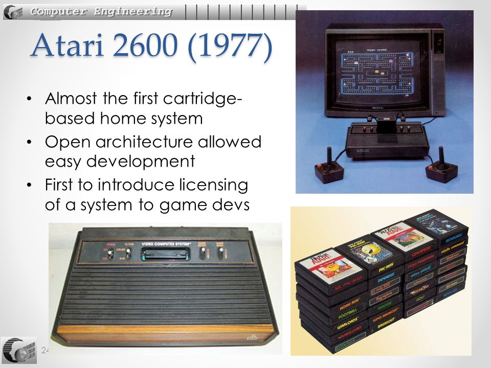 Atari 2600 (1977) Almost the first cartridge-based home system