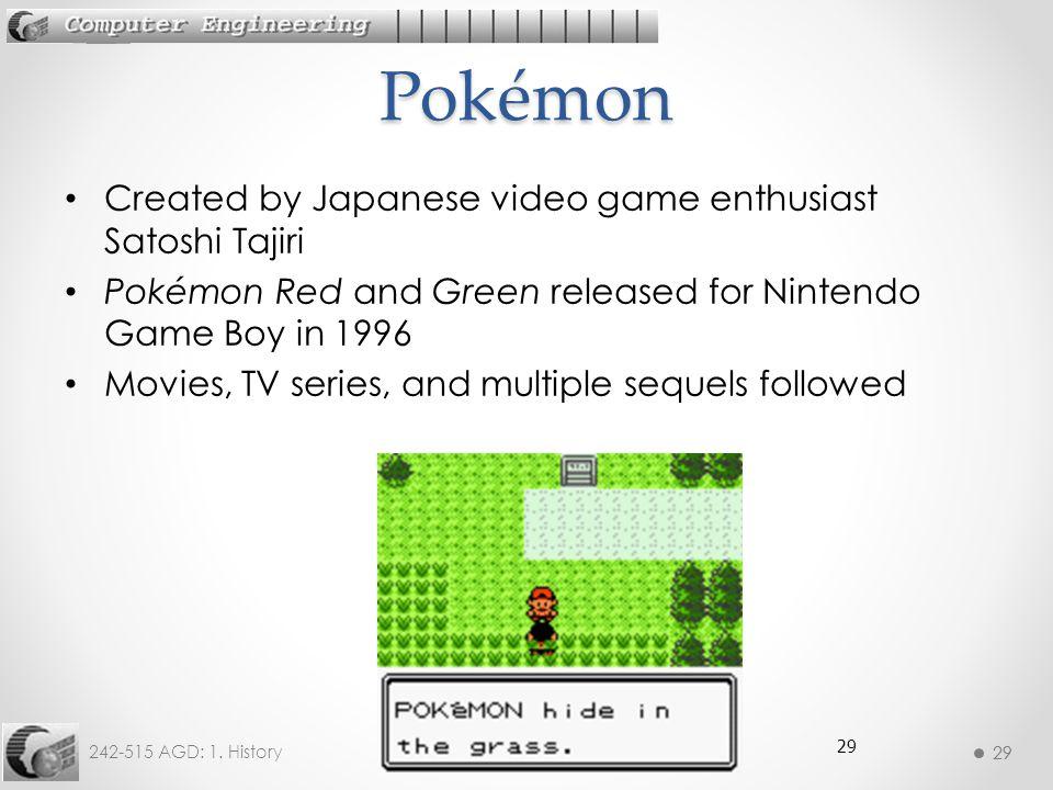 Pokémon Created by Japanese video game enthusiast Satoshi Tajiri
