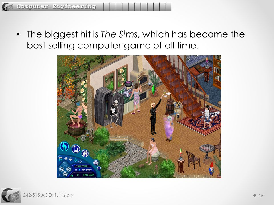 The biggest hit is The Sims, which has become the best selling computer game of all time.