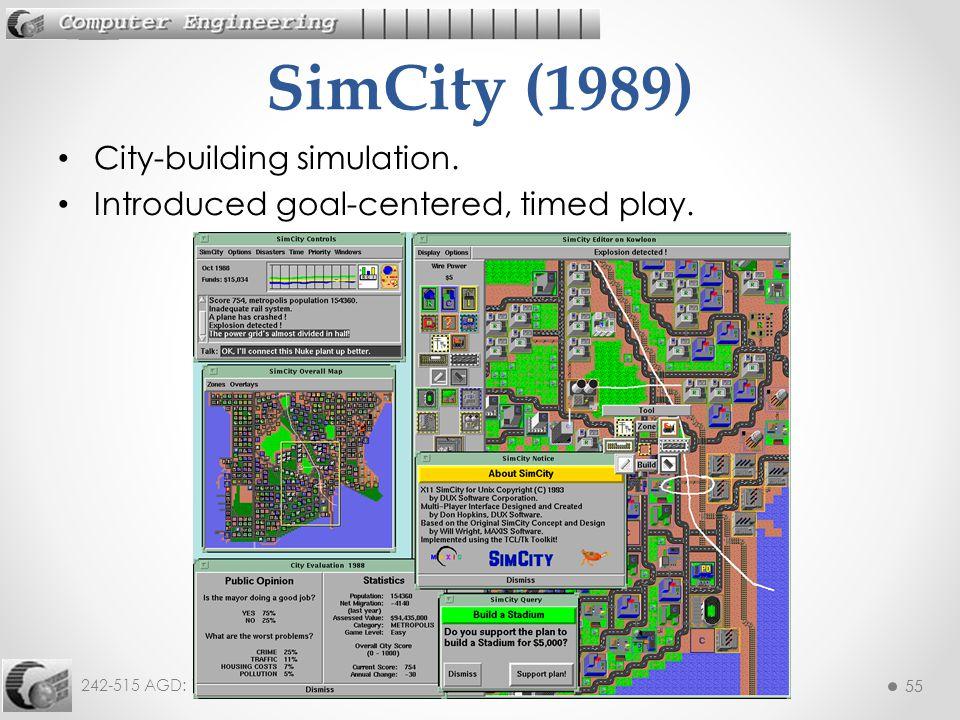SimCity (1989) City-building simulation.