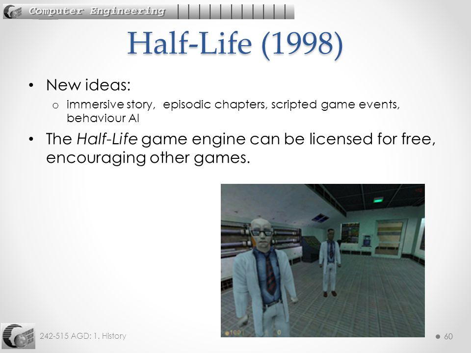 Half-Life (1998) New ideas: