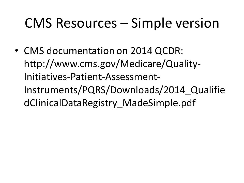 CMS Resources – Simple version
