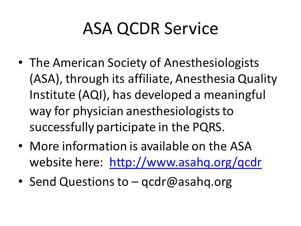 ASA QCDR Service