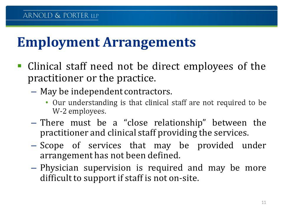 Employment Arrangements