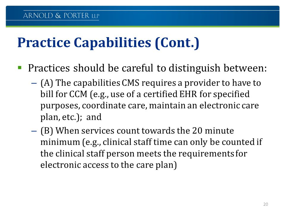 Practice Capabilities (Cont.)