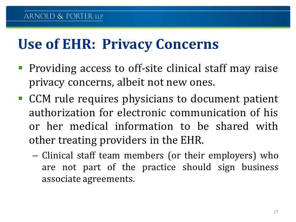 Use of EHR: Privacy Concerns