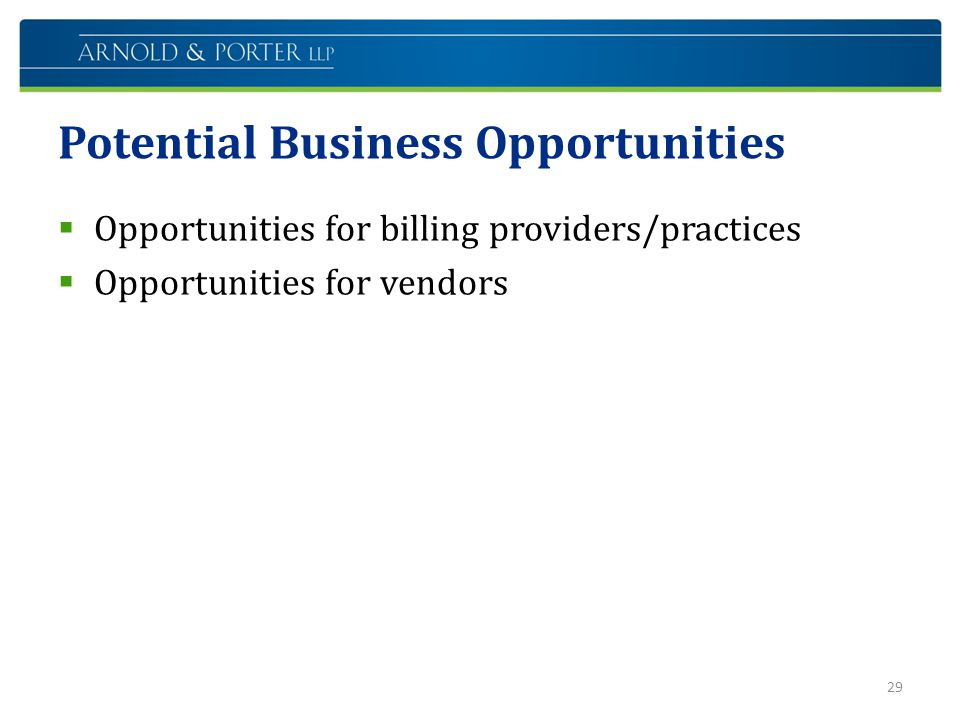 Potential Business Opportunities