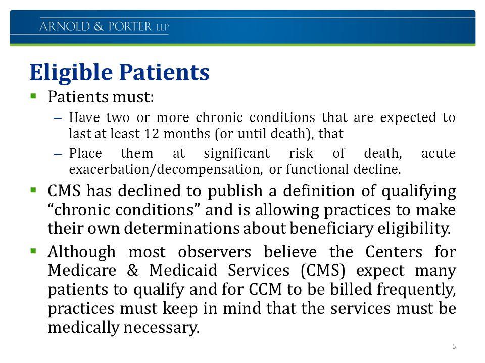 Eligible Patients Patients must: