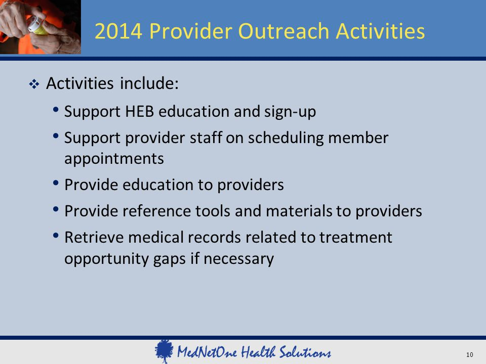 2014 Provider Outreach Activities