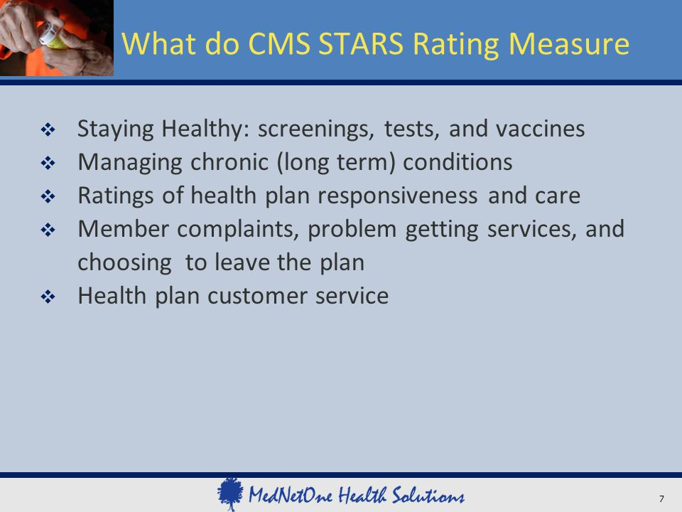 What do CMS STARS Rating Measure