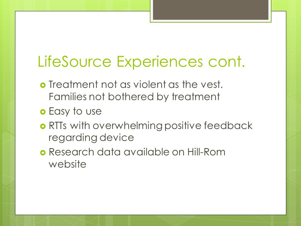 LifeSource Experiences cont.