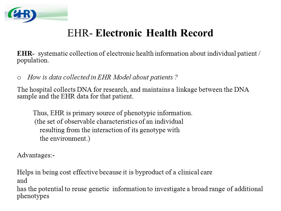 EHR- Electronic Health Record