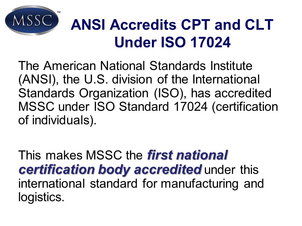 ANSI Accredits CPT and CLT Under ISO 17024