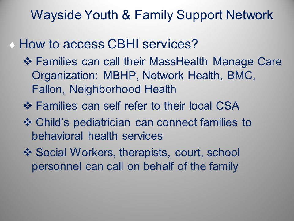 Wayside Youth & Family Support Network