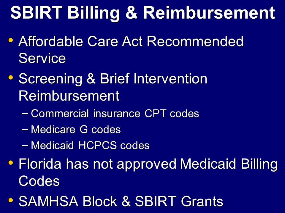 SBIRT Billing & Reimbursement