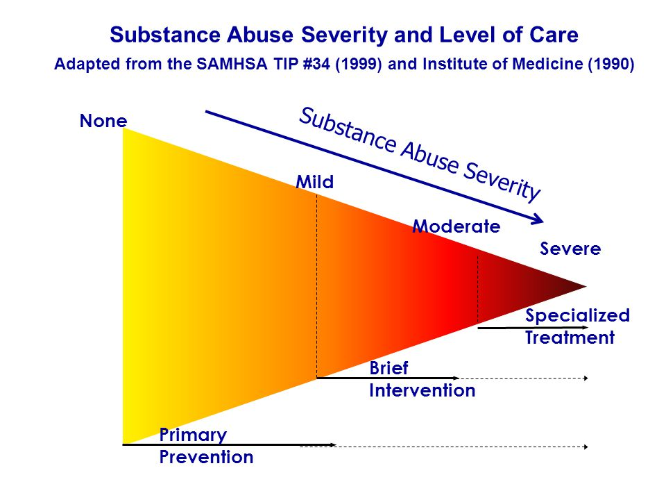 Substance Abuse Severity and Level of Care