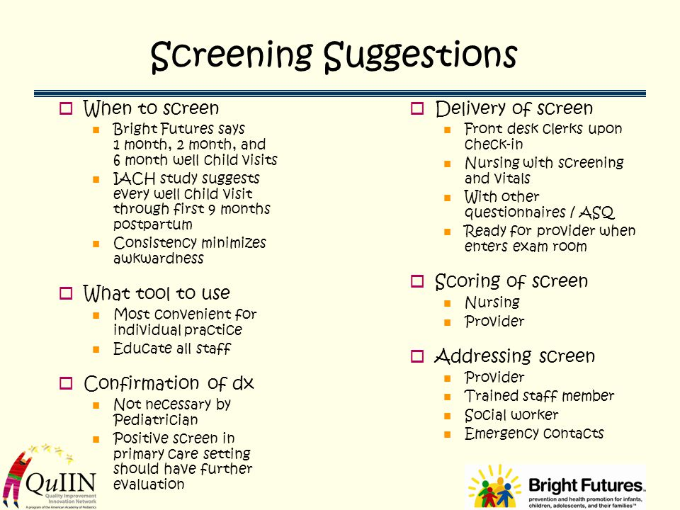 Screening Suggestions