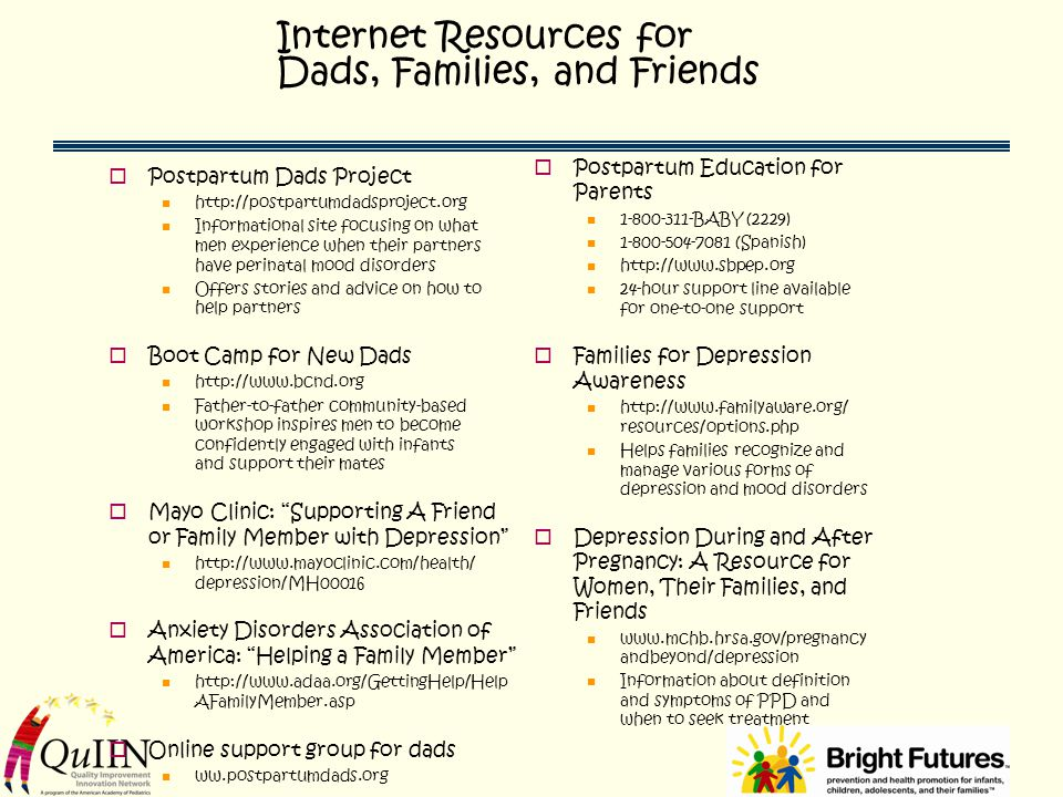 Internet Resources for Dads, Families, and Friends