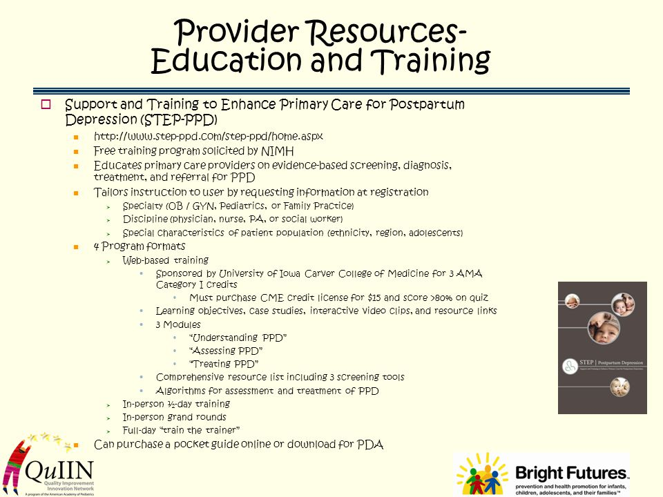 Provider Resources- Education and Training