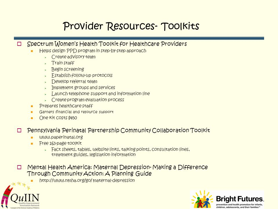 Provider Resources- Toolkits